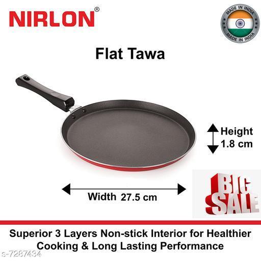 Nirlon Special nonstick tawaa, Flat Base dosa Tawa, 28cm*1.8cm (3 Layered Coated)