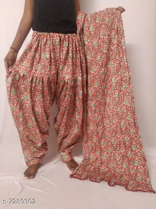 Ethnic Bottomwear - Patiala Pants Flouncy Women Patiala Pant With Dupattas  *Patiala Pant Fabric* Cotton  *Dupatta Fabric* Cotton  *Pattern* Solid  *Multipack* 1 Patiala Pant With 1 Dupatta  *Sizes*   *Free Size (Waist Size* Up To 26 in To 50 in (Free Size), Length Size  *Sizes Available* Free Size, 40 *   Catalog Rating: ★3.4 (8)  Catalog Name: Flouncy Women Patiala Pant With Dupattas CatalogID_1166225 C74-SC1018 Code: 004-7289302-