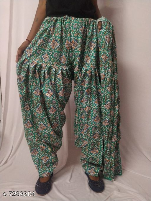 Ethnic Bottomwear - Patiala Pants Flouncy Women Patiala Pant With Dupattas  *Patiala Pant Fabric* Cotton  *Dupatta Fabric* Cotton  *Pattern* Solid  *Multipack* 1 Patiala Pant With 1 Dupatta  *Sizes*   *Free Size (Waist Size* Up To 26 in To 50 in (Free Size), Length Size  *Sizes Available* Free Size *   Catalog Rating: ★3.4 (8)  Catalog Name: Flouncy Women Patiala Pant With Dupattas CatalogID_1166225 C74-SC1018 Code: 004-7289304-