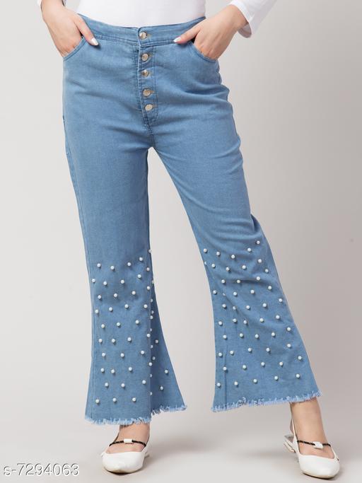 Urbane Glamorous Women Jean