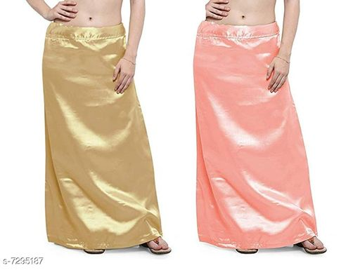 Ethnic Bottomwear - Petticoats Women Satin Petticoat Combo  *Fabric* Satin  *Pattern* Solid  *Multipack* 2 Women Ethnic Wear - Ethnic Bottomwear - Petticoats(Combo Pack Of 7)  *Sizes*   *Free Size (Waist Size* 46 in, Length Size  *Sizes Available* Free Size *    Catalog Name: Fancy Women Petticoats CatalogID_1167347 C74-SC1019 Code: 435-7295187-