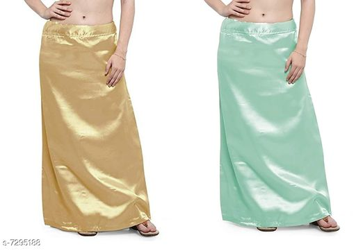 Ethnic Bottomwear - Petticoats Women Satin Petticoat Combo  *Fabric* Satin  *Pattern* Solid  *Multipack* 2 Women Ethnic Wear - Ethnic Bottomwear - Petticoats(Combo Pack Of 4)  *Sizes*   *Free Size (Waist Size* 46 in, Length Size  *Sizes Available* Free Size *    Catalog Name: Fancy Women Petticoats CatalogID_1167347 C74-SC1019 Code: 435-7295188-