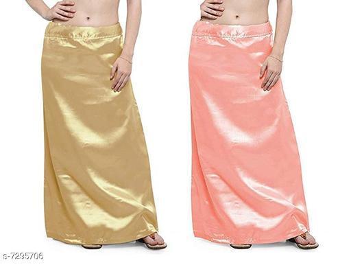 Women Satin Petticoat Combo
