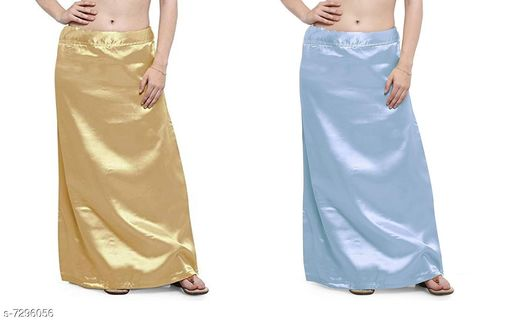 Ethnic Bottomwear - Petticoats Women Satin Petticoat Combo  *Fabric* Satin  *Pattern* Solid  *Multipack* 2 Women Ethnic Wear - Ethnic Bottomwear - Petticoats(Combo Pack Of 4)  *Sizes*   *Free Size (Waist Size* 46 in, Length Size  *Sizes Available* Free Size *    Catalog Name: Stylus Women Petticoats CatalogID_1167525 C74-SC1019 Code: 435-7296056-