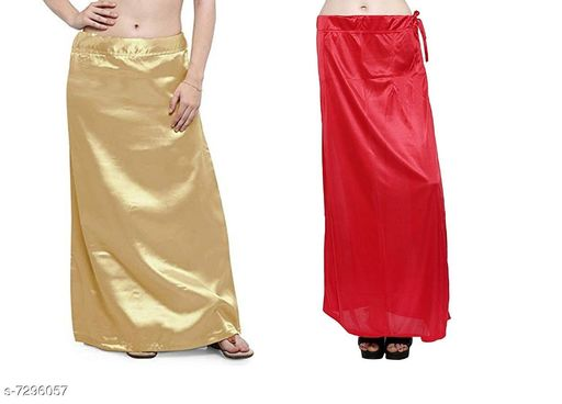 Ethnic Bottomwear - Petticoats Women Satin Petticoat Combo  *Fabric* Satin  *Pattern* Solid  *Multipack* 2 Women Ethnic Wear - Ethnic Bottomwear - Petticoats(Combo Pack Of 3)  *Sizes*   *Free Size (Waist Size* 46 in, Length Size  *Sizes Available* Free Size *    Catalog Name: Stylus Women Petticoats CatalogID_1167525 C74-SC1019 Code: 435-7296057-