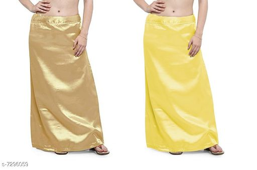 Ethnic Bottomwear - Petticoats Women Satin Petticoat Combo  *Fabric* Satin  *Pattern* Solid  *Multipack* 2 Women Ethnic Wear - Ethnic Bottomwear - Petticoats(Combo Pack Of 5)  *Sizes*   *Free Size (Waist Size* 46 in, Length Size  *Sizes Available* Free Size *    Catalog Name: Stylus Women Petticoats CatalogID_1167525 C74-SC1019 Code: 435-7296059-