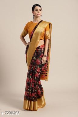 Trendy Semi Linen Saree