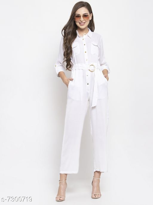 Jompers White Jumpsuit