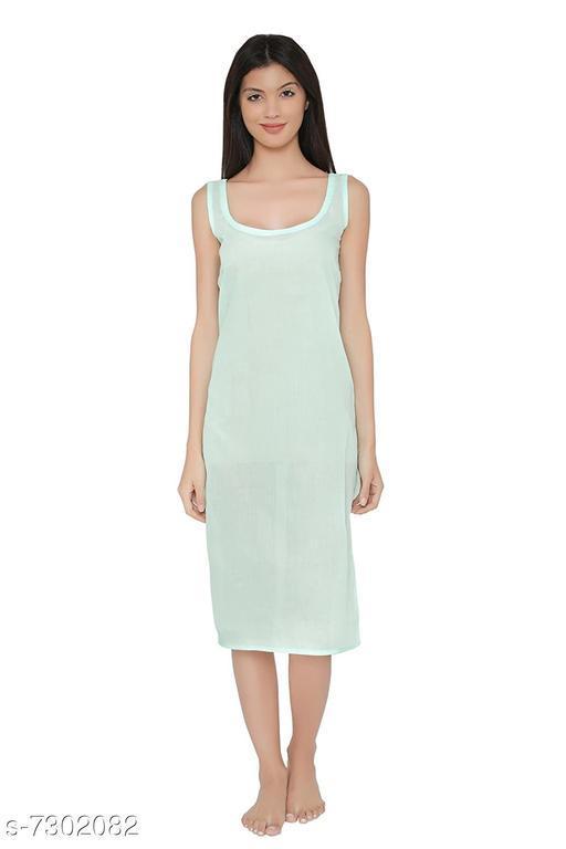 Women Cotton Slip/Camisoles Sea Green