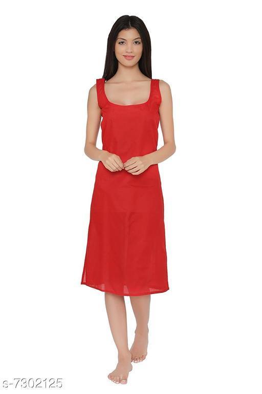 Women Cotton Slip/Camisoles Red
