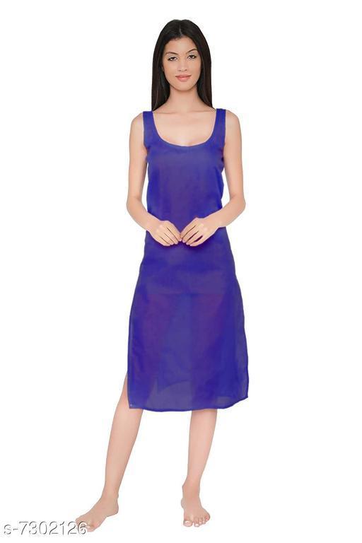Women Cotton Slip/Camisoles Royal Blue