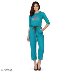 Trendy Rayon Women's Jumpsuit