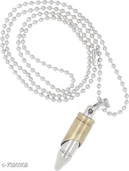 Dual Color Bullet Pendant for Men by Sparkling Jewellery