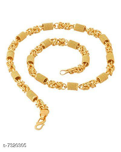20 inch Lustrous Link Gold Plated Chain by Sparkling Jewellery