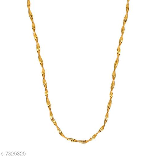 Simple Gold Plated Light Chain (24 inch) by Sparkling Jewellery