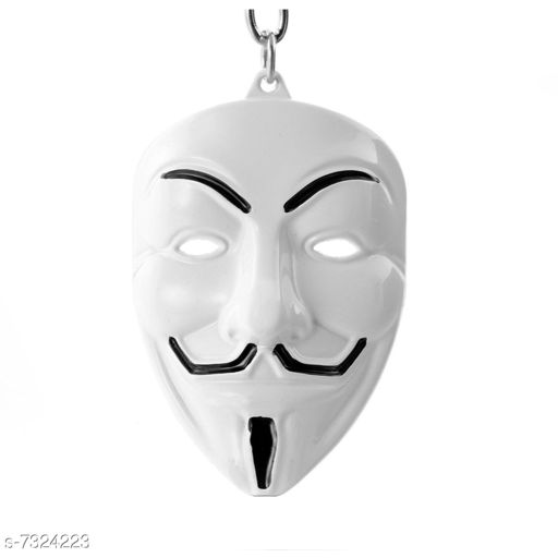 Anonymous Hacker Face Mask Metal Keychain