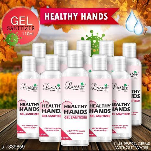 Luster Healthy hands Gel Sanitizer 110ml (Pack of 10)