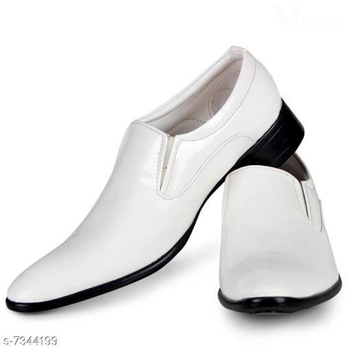 Stylish Men's PU White Loafers