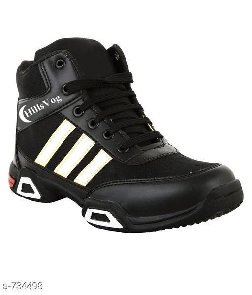 Trendy Men's Black Sneakers