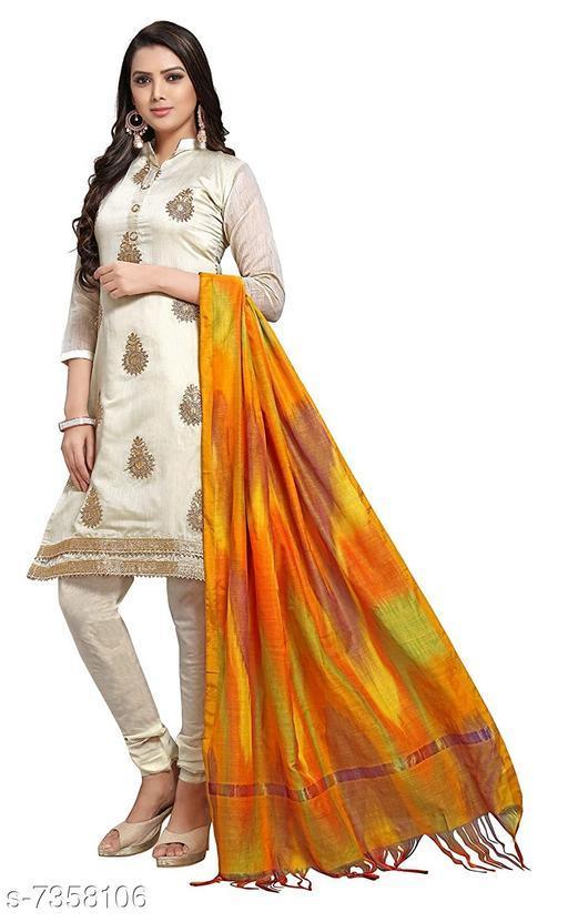Tulip Prints Women's Cotton Yellow Leheriya Dupatta With Jhalar