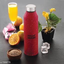 NIRLON Stainless Steel Red White Spatter Bottle 1000ml - CRYSTAL