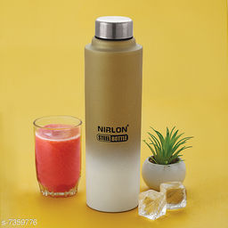 Nirlon Unbreakable Stainless Steel Leak Proof Fridge Water Bottle 1000ml (Pack of 01)