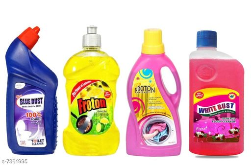 Cleaning Brushes Fancy Cleaners  *Product Name* Toilet Cleaner 500ml,Dishwash liquid gel 500ml,Liquid detergent 500ml ,Floor cleaner(floral)500ml  *Product Type * Toilet cleaner,Dishwash liquid,Liquid detergent,Floor Cleaner(Floral)  *Capacity* 500 ml (Each)  *Multipack* 4  *Sizes Available* Free Size *    Catalog Name: Fancy Cleaners CatalogID_1180741 C132-SC1592 Code: 954-7361995-