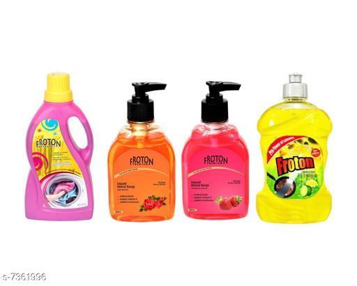 Cleaning Brushes Fancy Cleaners  *Product Name* Dishwash liquid gel 500ml,Liquid detergent 500ml ,Handwash Liquid Rose(250ml),Handwash liquid Strawberry 250ml  *Product Type * Dishwash liquid,Liquid detergent,Handwash liquid  *Capacity* 500 ml & 250 ml  *Multipack* 4  *Sizes Available* Free Size *    Catalog Name: Fancy Cleaners CatalogID_1180741 C132-SC1592 Code: 705-7361996-