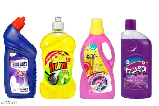Cleaning Brushes Fancy Cleaners  *Product Name* Toilet Cleaner 500ml,Dishwash liquid gel 500ml,Liquid detergent 500ml ,Floor cleaner(lavender)500ml  *Product Type * Toilet cleaner,Dishwash liquid,Liquid detergent,Floor Cleaner(Lavender)  *Capacity* 500 ml (Each)  *Multipack* 4  *Sizes Available* Free Size *    Catalog Name: Fancy Cleaners CatalogID_1180741 C132-SC1592 Code: 954-7361997-