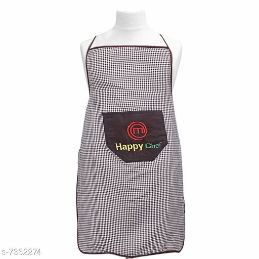 Groovy PVC Premium Checkered Waterproof Apron (Pack of 1)