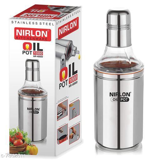 Nirlon Stailnless Steel Oil Dispenser 1000ml - Oil Pot