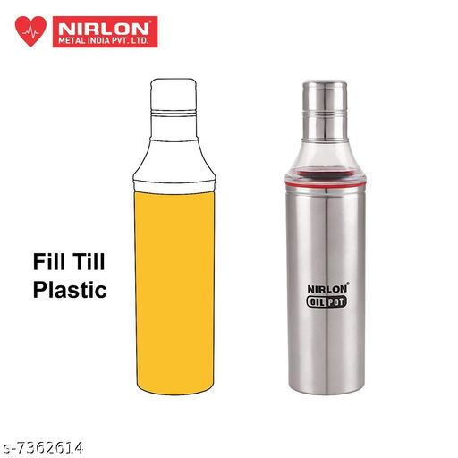 Nirlon Stailnless Steel Oil Dispenser 600ml - Oil Pot