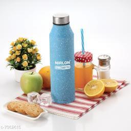 NIRLON Stainless Steel Blue White Spatter Bottle 1000ml - CRYSTAL