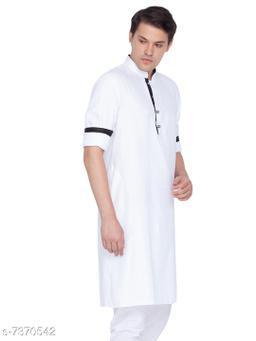 Vastramay Men's White Cotton Kurta