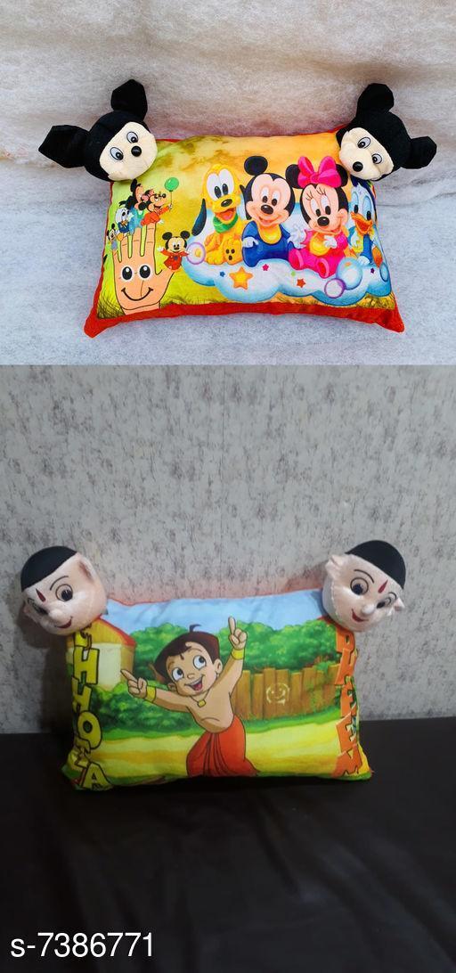 Stylish Velvet Cartoon Printed Pillow