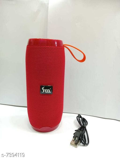 Bluetooth wireless S104 high bass speaker with FM Radio, Memory card slot, Aux port (Red)