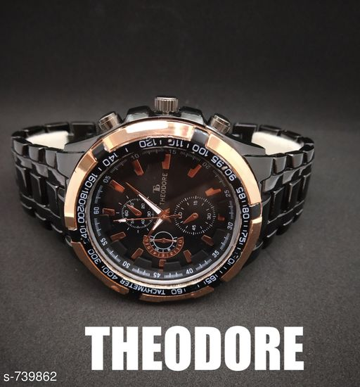 Trendy Metal Wrist Watch