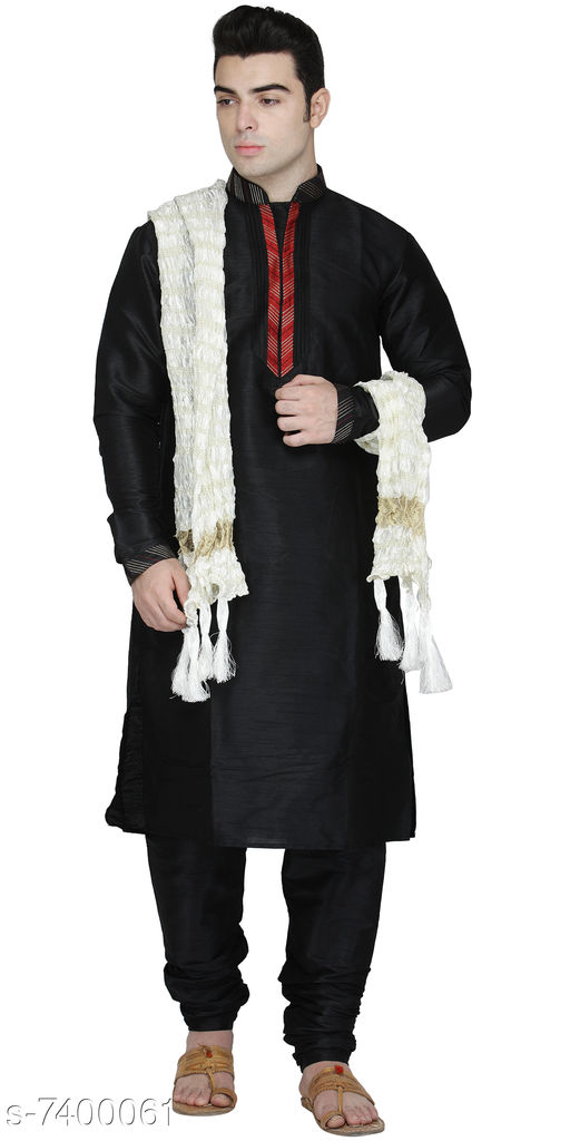 Trendy Art Silk Men's Kurta Set
