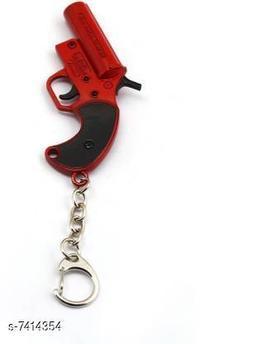 Toddler Choice Playerunknown's Battlegrounds PUBG red Flare gun metal keychain Key Chain
