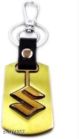 Toddler Choice Classy Suzuki Car Attractive Designer metal Locking Key Chain  (Gold)