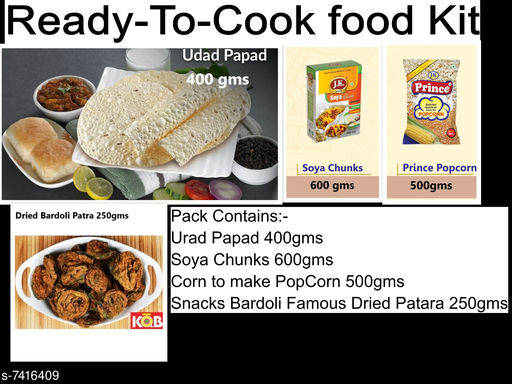 Chips & Namkeen Ready to Cook kit Ready to Cook kit  *Sizes Available* Free Size *    Catalog Name: Check out this trending catalog CatalogID_1191350 C89-SC1776 Code: 469-7416409-