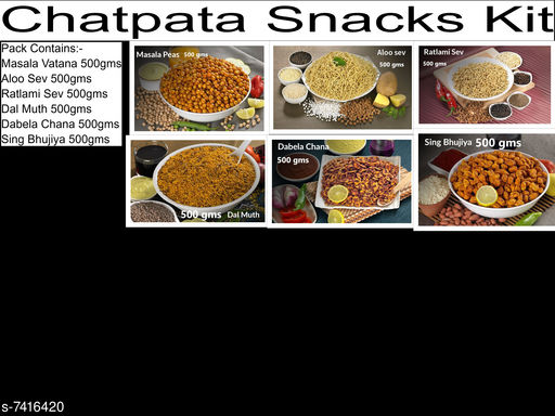 Chips & Namkeen Chatpata Snacks Kit Chatpata Snacks Kit  *Sizes Available* Free Size *    Catalog Name: Check out this trending catalog CatalogID_1191350 C89-SC1776 Code: 3481-7416420-