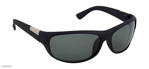 Arzonai UV Protection Men's and Women's Wrap Around Cricketers Night Drive Sports Sunglasses (Black) Free Size
