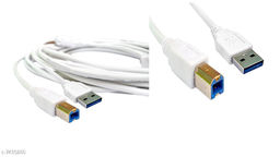 Stylish USB 3.0 High speed A Male to B Male Printer Cable 1.5