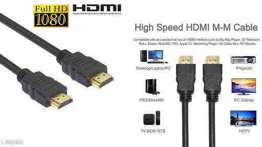 Stylish 4K Ultra HD HDMI Male to Male Cable 1.5