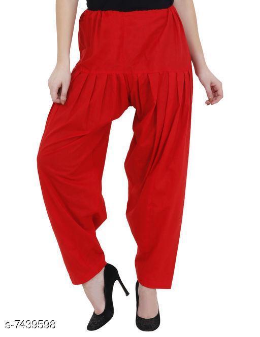 Ethnic Bottomwear - Salwars & Chudidars Trendy Cotton Women's Salwars   *Fabric* Cotton  *Pattern* Solid  *Multipack* 1  *Stitch Type* Stitched  *Fabric* Cotton  *Pattern* Solid  *Multipack* 1  *Stitch Type* Stitched  *Sizes* Free Size ( Waist Size  *Sizes Available* Free Size *    Catalog Name: Aishani Drishya Women Salwars CatalogID_1195896 C74-SC1017 Code: 054-7439598-