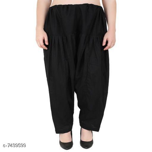 Ethnic Bottomwear - Salwars & Chudidars Trendy Cotton Women's Salwars   *Fabric* Cotton  *Pattern* Solid  *Multipack* 1  *Stitch Type* Stitched  *Fabric* Cotton  *Pattern* Solid  *Multipack* 1  *Stitch Type* Stitched  *Sizes* Free Size ( Waist Size  *Sizes Available* Free Size *    Catalog Name: Aishani Drishya Women Salwars CatalogID_1195896 C74-SC1017 Code: 054-7439599-