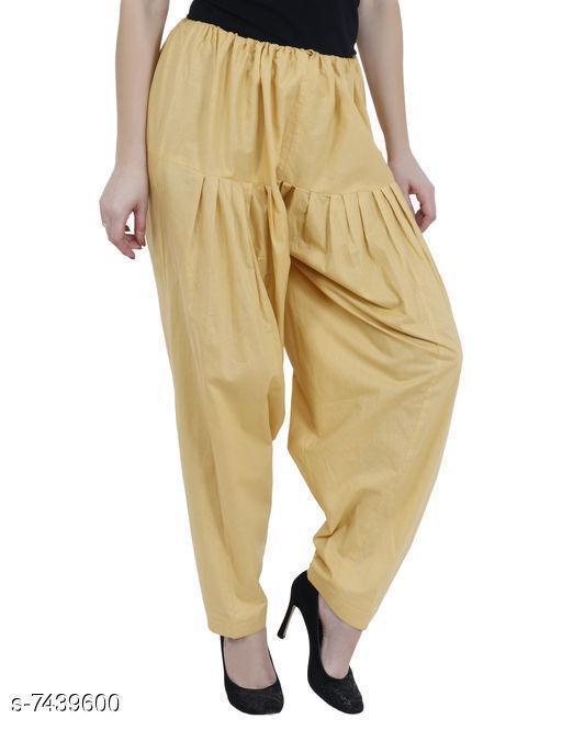 Ethnic Bottomwear - Salwars & Chudidars Trendy Cotton Women's Salwars   *Fabric* Cotton  *Pattern* Solid  *Multipack* 1  *Stitch Type* Stitched  *Fabric* Cotton  *Pattern* Solid  *Multipack* 1  *Stitch Type* Stitched  *Sizes* Free Size ( Waist Size  *Sizes Available* Free Size *    Catalog Name: Aishani Drishya Women Salwars CatalogID_1195896 C74-SC1017 Code: 054-7439600-