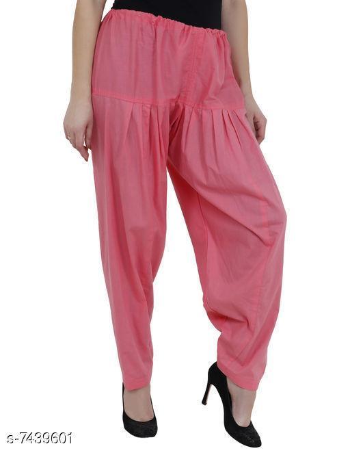 Ethnic Bottomwear - Salwars & Chudidars Trendy Cotton Women's Salwars   *Fabric* Cotton  *Pattern* Solid  *Multipack* 1  *Stitch Type* Stitched  *Fabric* Cotton  *Pattern* Solid  *Multipack* 1  *Stitch Type* Stitched  *Sizes* Free Size ( Waist Size  *Sizes Available* Free Size *    Catalog Name: Aishani Drishya Women Salwars CatalogID_1195896 C74-SC1017 Code: 054-7439601-