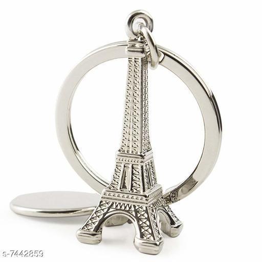 Advikavya Silver Eiffel Tower Key Chain (Silver)